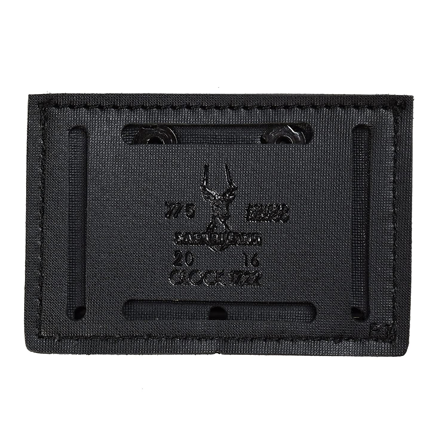 Stx Black by Safariland Duty Gear Safariland Duty Gear Glock 17 Open Top Slimline Triple Magazine Pouch