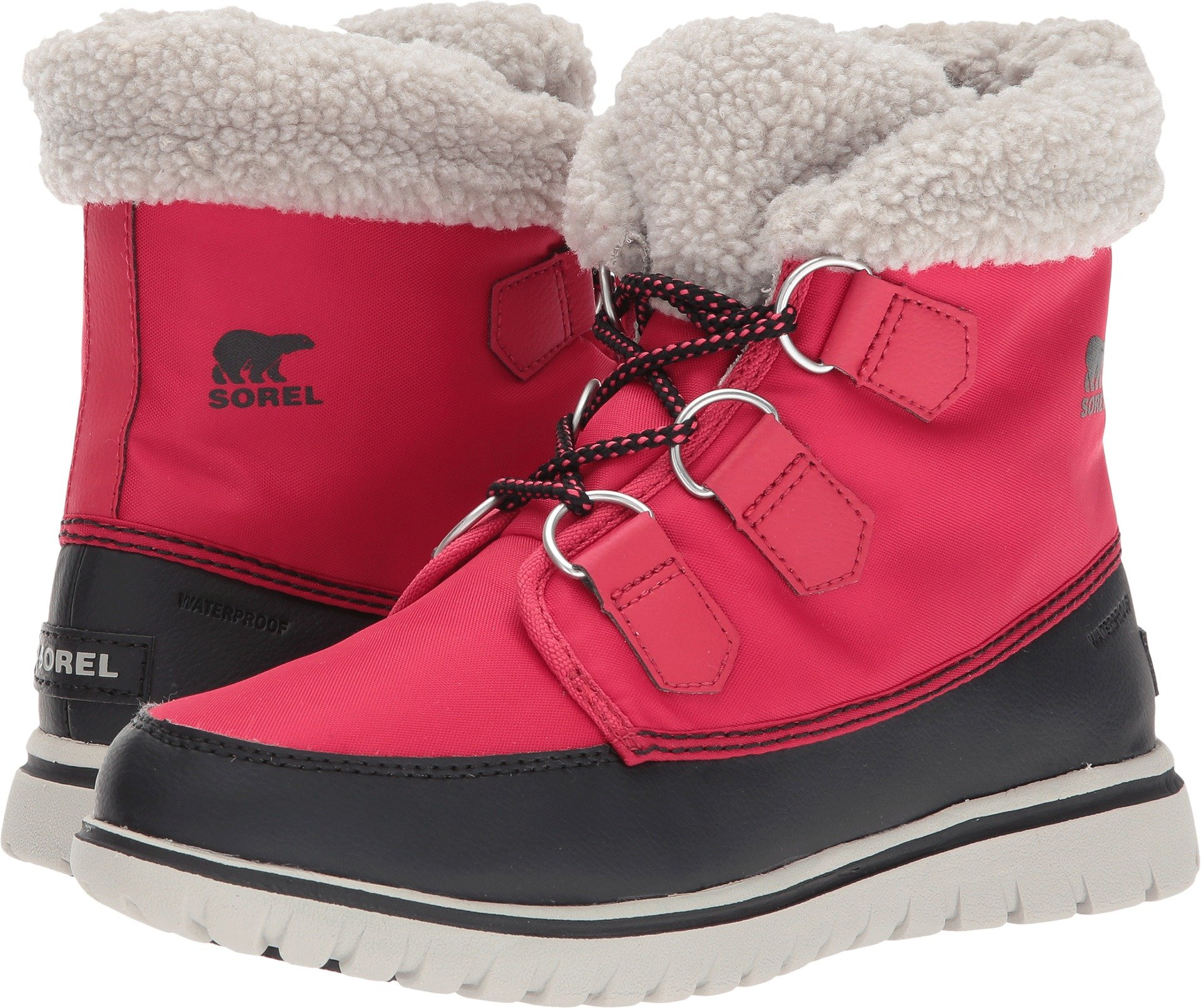 Sorel Women's Cozy Carnival Booties, Candy Apple/Black, 9 B(M) US
