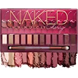 Urban Decay Naked Cherry Eyeshadow Palette, 12 Cherry Neutral Shades - Ultra-Blendable, Rich Colors with Velvety Texture - Se
