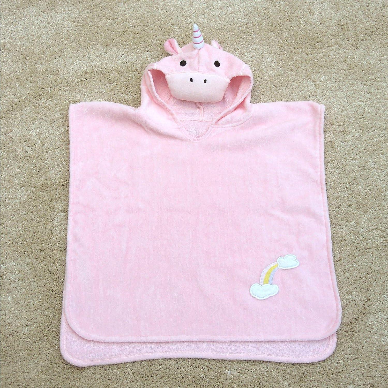 Toalla de baño estilo poncho con diseño de unicornio para niñas de 1 a 3 años de edad, para playa y la hora del baño, de Bathing Bunnies: Amazon.es: Bebé