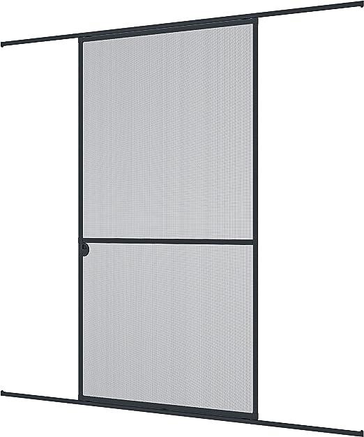 Windhager mosquitera corredera Expert, Marco de Aluminio para Puertas, 120 x 240 cm, Antracita, 03844: Amazon.es: Jardín