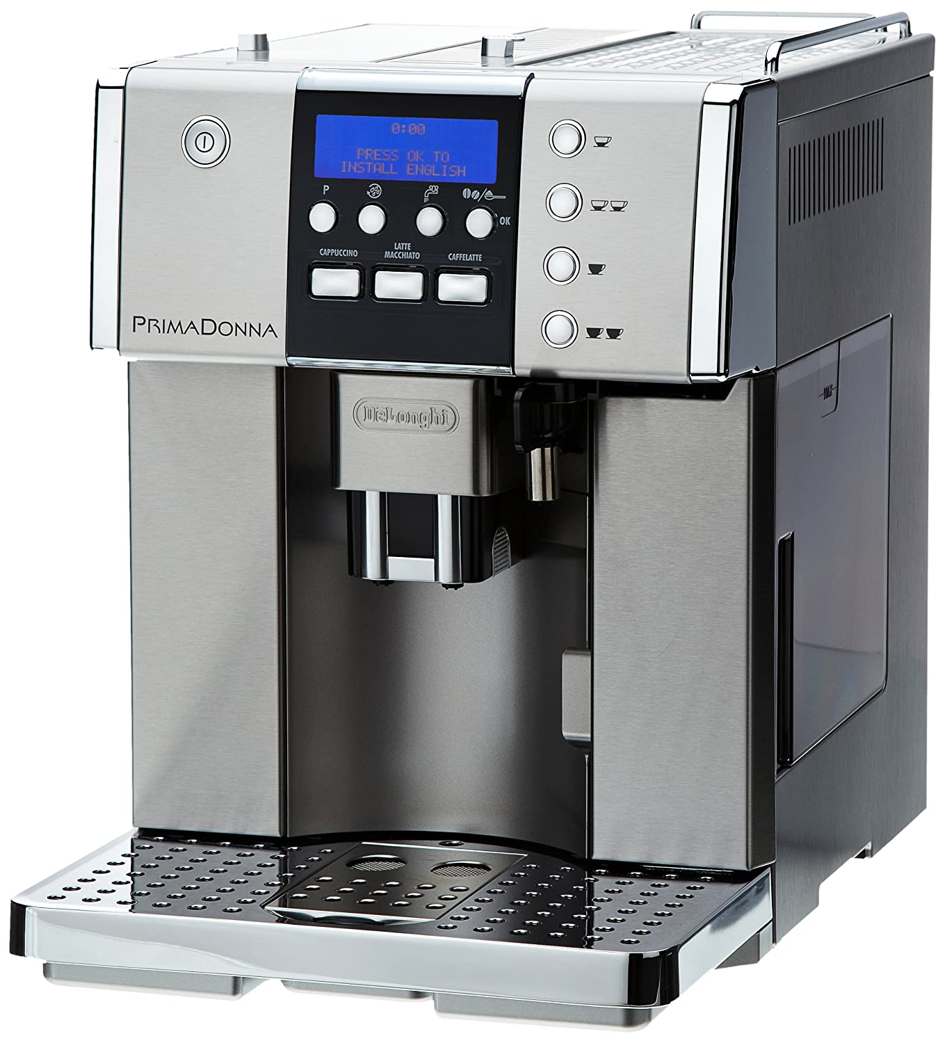 De'Longhi Prima Donna Fully Automatic Bean to Cup Espresso/Cappuccino  Machine ESAM6620, 15 Bar - Stainless Steel: Amazon.co.uk: Kitchen & Home
