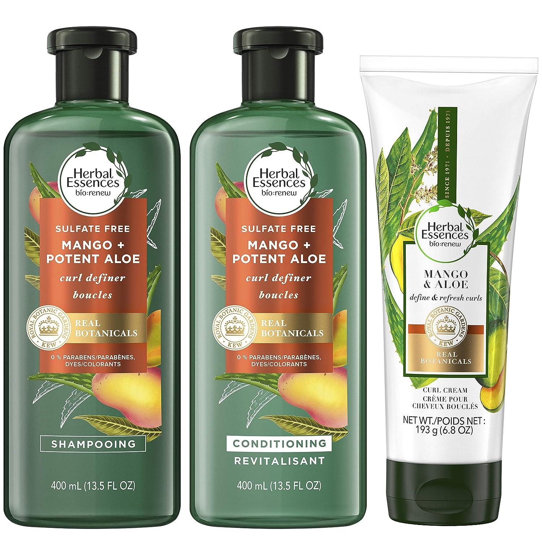 Herbal Essences BioRenew Shampoo, Shampoo (3.5 Oz Each) and Curl Cream (6.8 Oz)