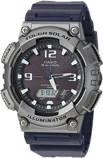 Casio Mens Tough Solar Quartz Watch with Resin Strap, Black, 25 (Model: AQ-S810W-1A4VCF)