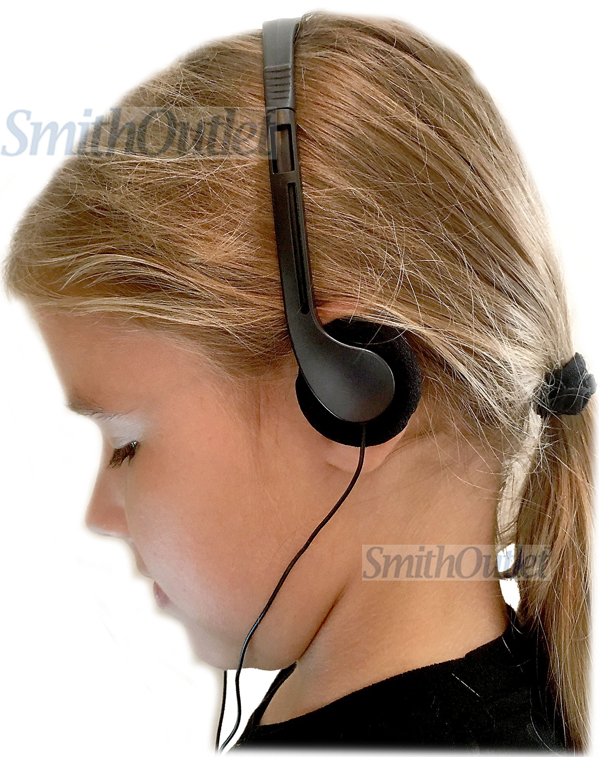 SmithOutlet 100 Pack Low Cost Classroom/Library Headphones by SmithOutlet (Image #3)
