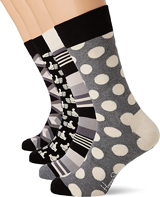 Happy Socks Black and White Gift Box, Calcetines para Hombre ...