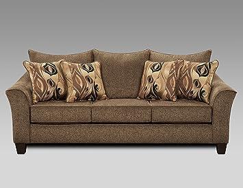Amazon.com: Roundhill Furniture LAF7700CC Juego de sofá y ...