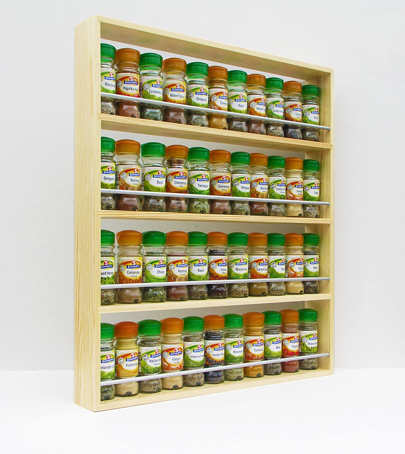 wide with larder cabinet rack open double drawers and racks spice