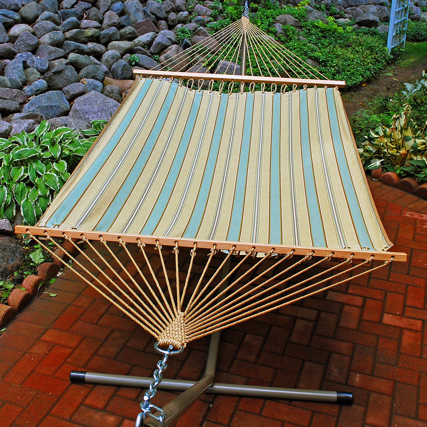 amazon     13 u0027 fabric hammock     hammock with stand   garden  u0026 outdoor amazon     13 u0027 fabric hammock     hammock with stand   garden      rh   amazon