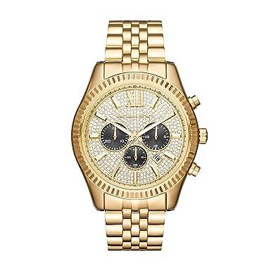 ac362cf158c47 Amazon.com: Michael Kors Men's Lexington Gold-Tone Watch MK8494: Watches
