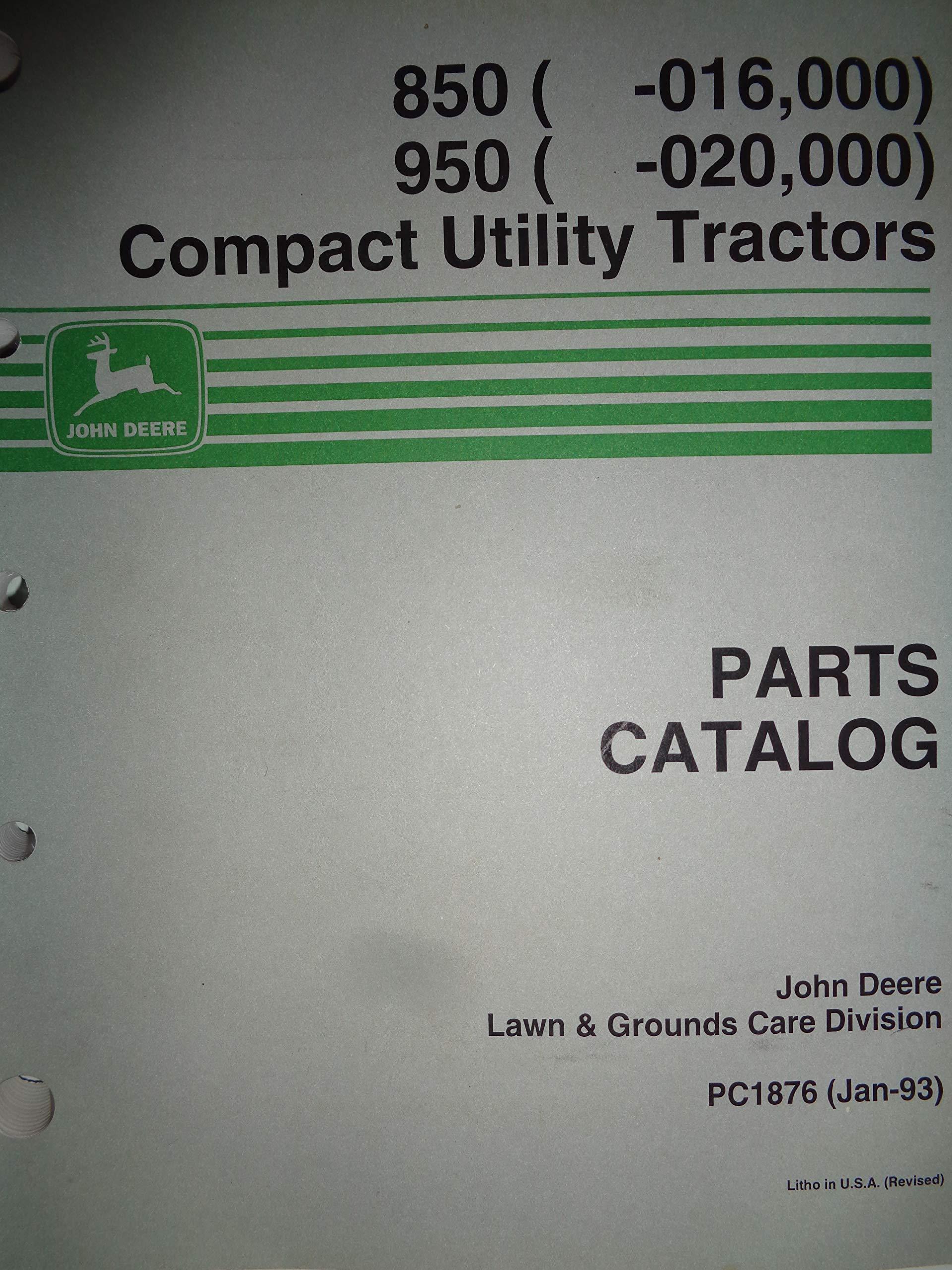 John Deere 850 Tractor Parts Diagram