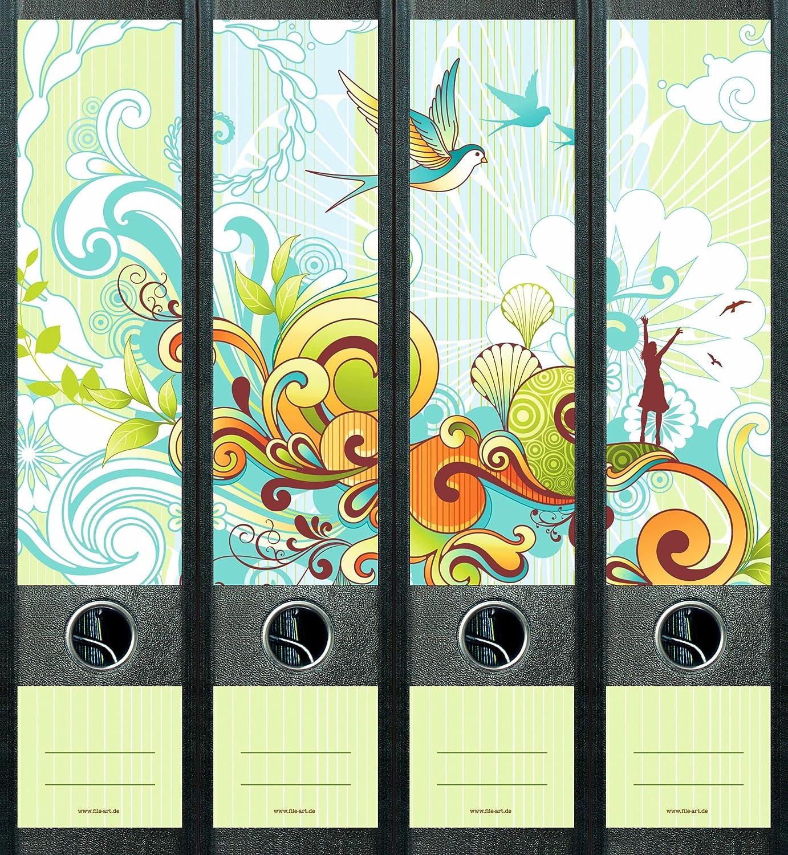 File Art AJ456 Design Etiketten Ordnerr/ückenschilder