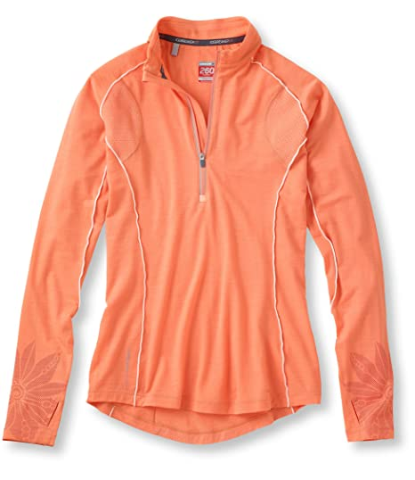 4f12d9e43f Amazon.com: Icebreaker Women's Flash Long Sleeve Half Zip Top, Peach ...
