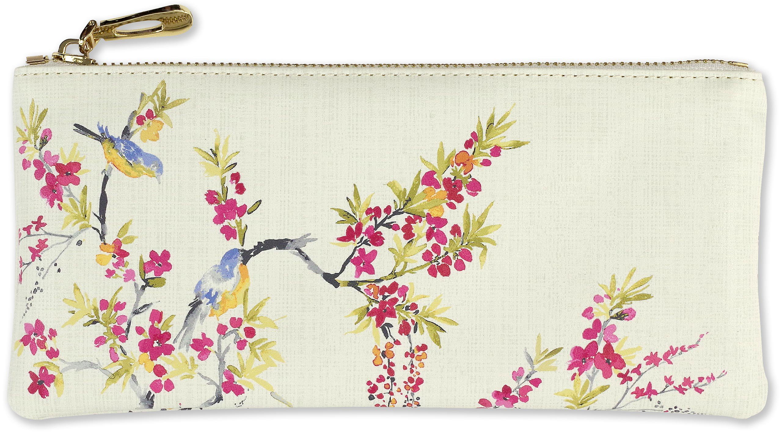 Read Online Blossoms and Bluebirds Pencil Pouch (accessories case, faux leather) pdf