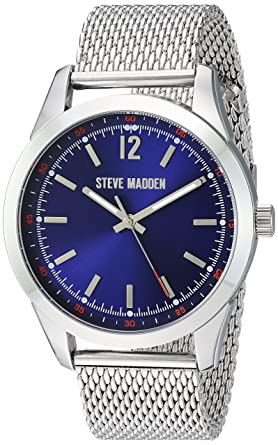baffa50d95f Image Unavailable. Image not available for. Color  Steve Madden Men s  Japanese-Quartz Watch with Alloy ...