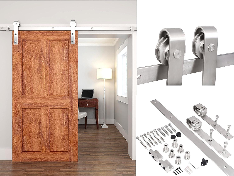 TMS 8 ft (acero inoxidable satinado, estilo moderno madera de ...
