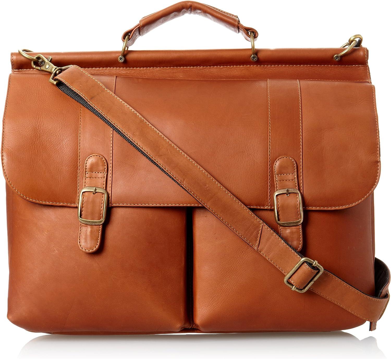 David King Co. Dowel Laptop Briefcase, Tan, One Size