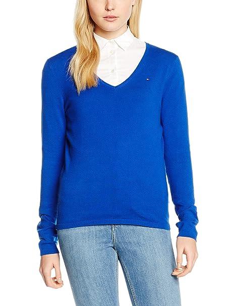 tommy hilfiger damen pullover new ivy hellblau