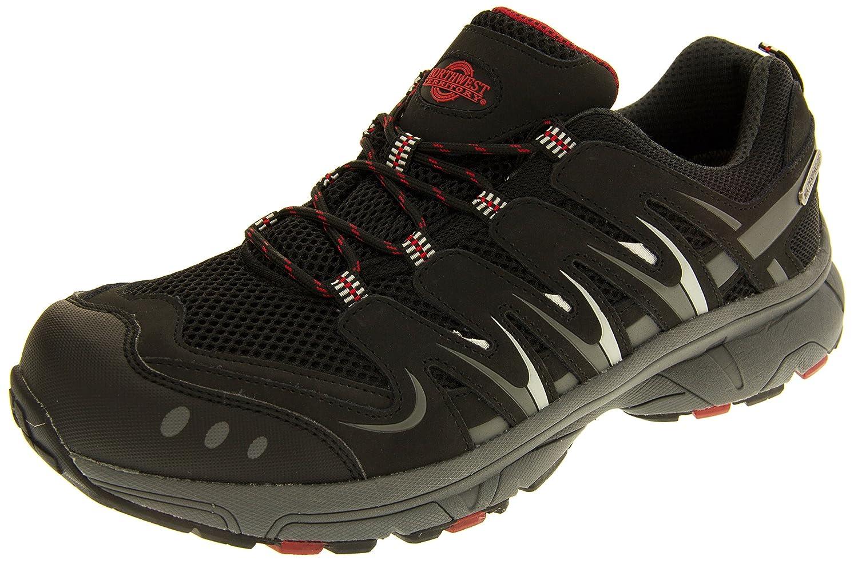 Northwest Territory Hombre las zapatillas de deporte de cuero de senderismo Zapatos 42 EU Negro Y Rojo