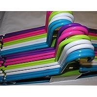 20x perchas de plástico multicolor 40cm planchar pantalones