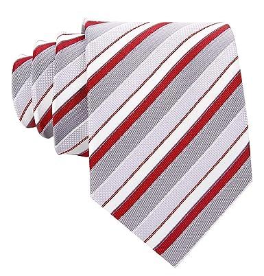 Scott Allan - Corbata de cuello para hombre, diseño de rayas ...