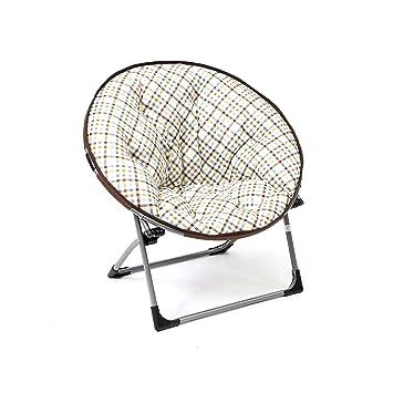 Mac Sports Flat Fold Moon Chair - Kids Papasan in Choice of Colors (Plaid)  sc 1 st  Amazon.com & Amazon.com: Mac Sports Flat Fold Moon Chair - Kids Papasan in Choice ...