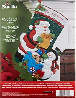 bucilla 18 inch christmas stocking felt applique kit 86360 santas list - Where To Buy Christmas Stockings