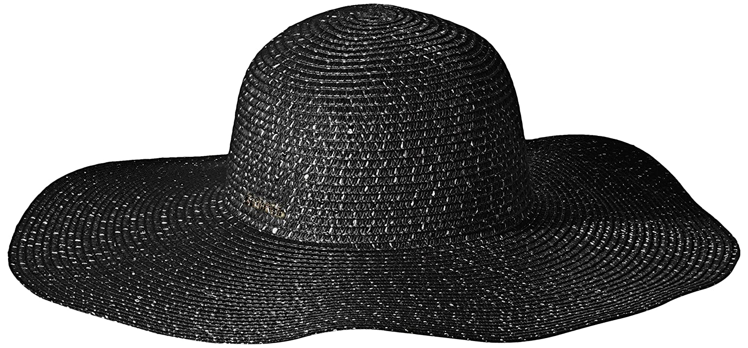 dee6e9b9 Calvin Klein Women's Sequin Straw Sun Hat, Black One Size at Amazon Women's  Clothing store: