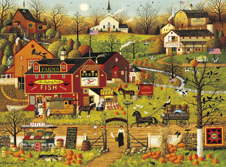 Buffalo Games Charles Wysocki - Blackbirds Roost At Mill Creek - 1000 Piece Jigsaw Puzzle