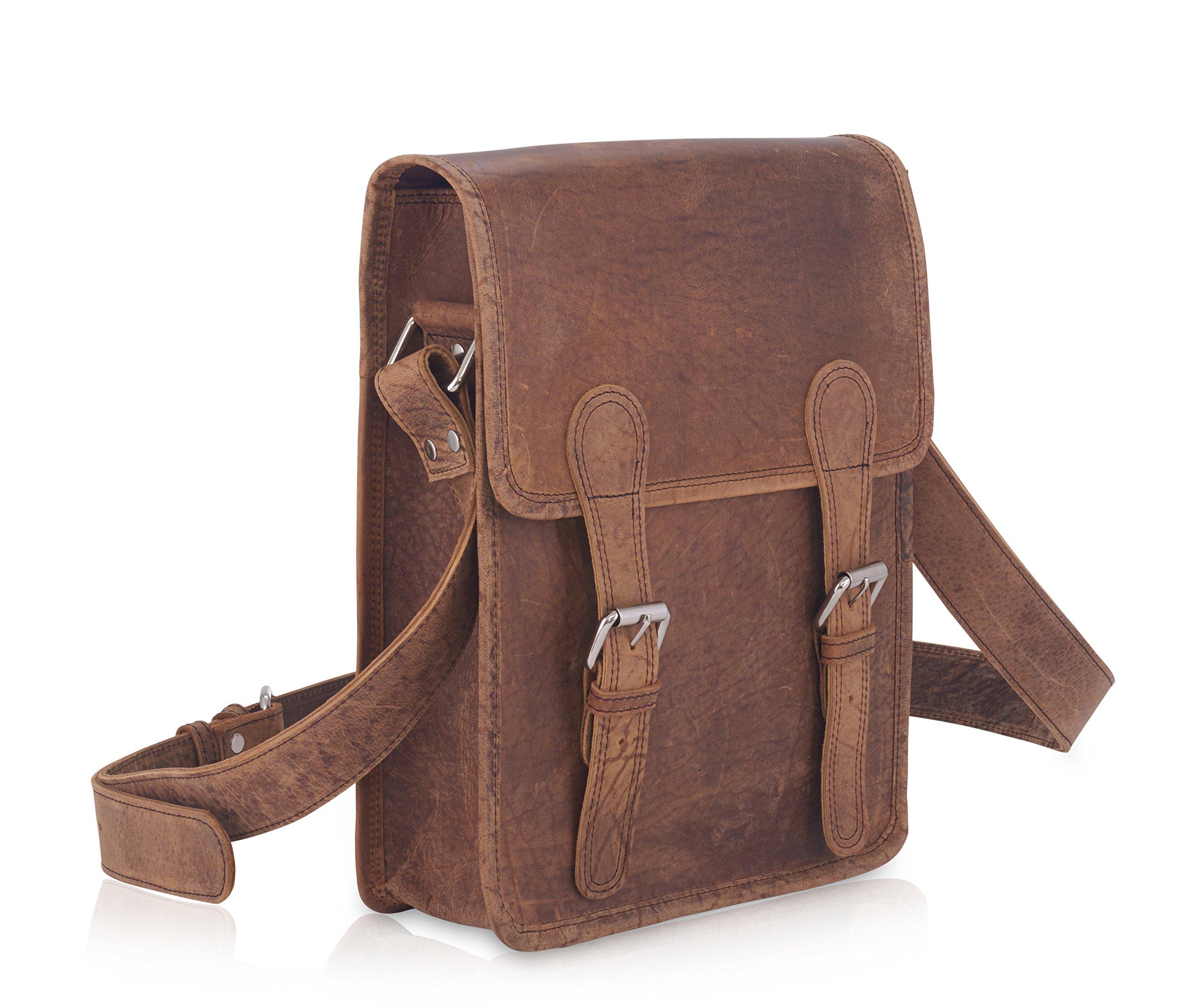 Komalc 11 Inch Vintage Hunter Leather Satchel for Ipad / TabletsSALE by KomalC (Image #2)