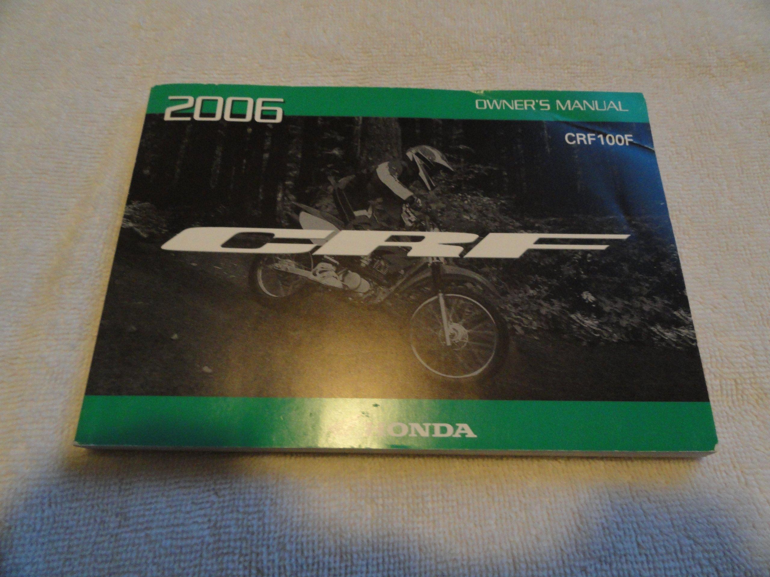2006 honda crf100 owners manual crf 100 f honda amazon com books rh amazon com honda crf 100 service manual free download 2004 honda crf 100 owners manual