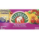 Elephant Infusion Pêche Cerise 25 Sachets 50g - Lot de 5