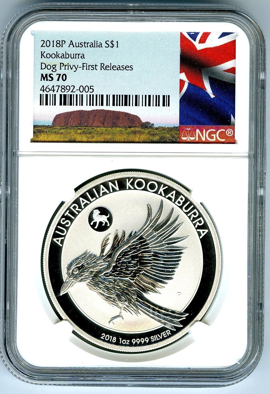 2019P Australian Silver Dollar KOOKABURRA NGC MS70