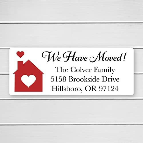 60ct christmas address labels we have moved address labels new home address stickers