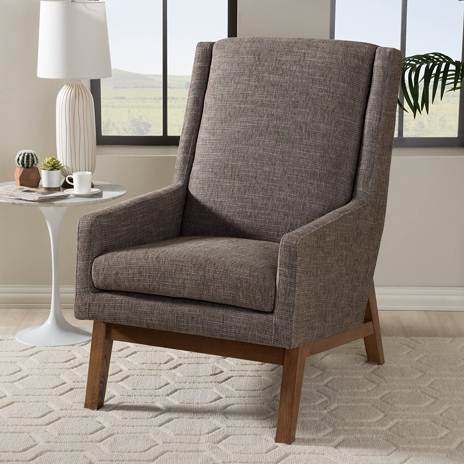Super Amazon Com Baxton Studio Aberdeen Accent Chair In Gray And Ibusinesslaw Wood Chair Design Ideas Ibusinesslaworg