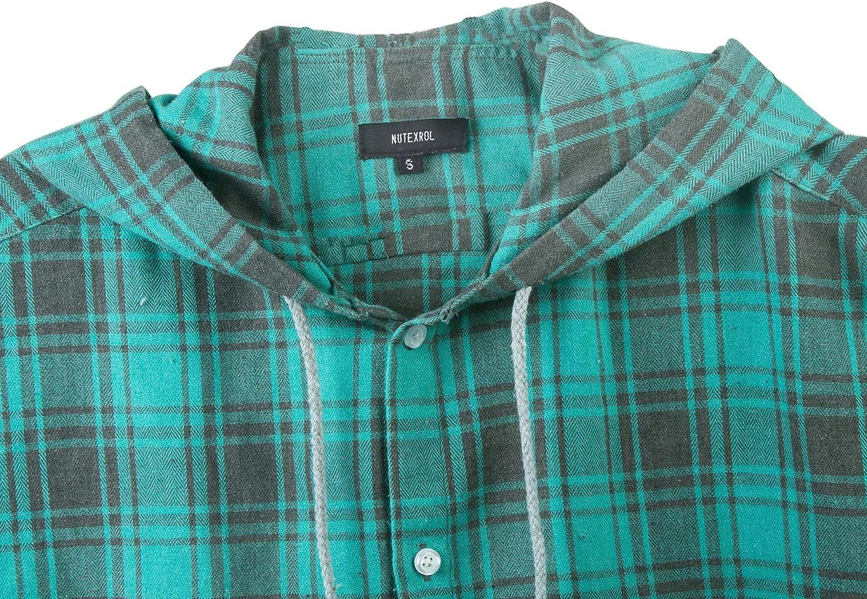 NUTEXROL Camisas de Hombre Camisa a Cuadros Franela Camisas de Vestir Sin Manga Casual Diversas Tallas por Cada Estilo Camisa de Le/ñador C/ómodo y Moderno para Verano
