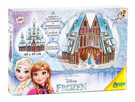 Disney Premium Box Frozen 1 Castello E 1 Slitta Da Montare 2