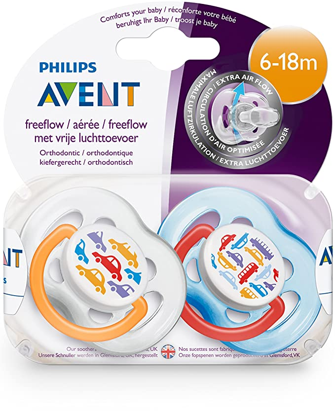 Philips Avent SCF172/22 - Chupete (2 unidades, 6-18 meses, no es posible elegir el color)