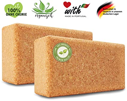 AMITYUNION Bloques de Yoga de Corcho - 100% Natural, Bloque ...