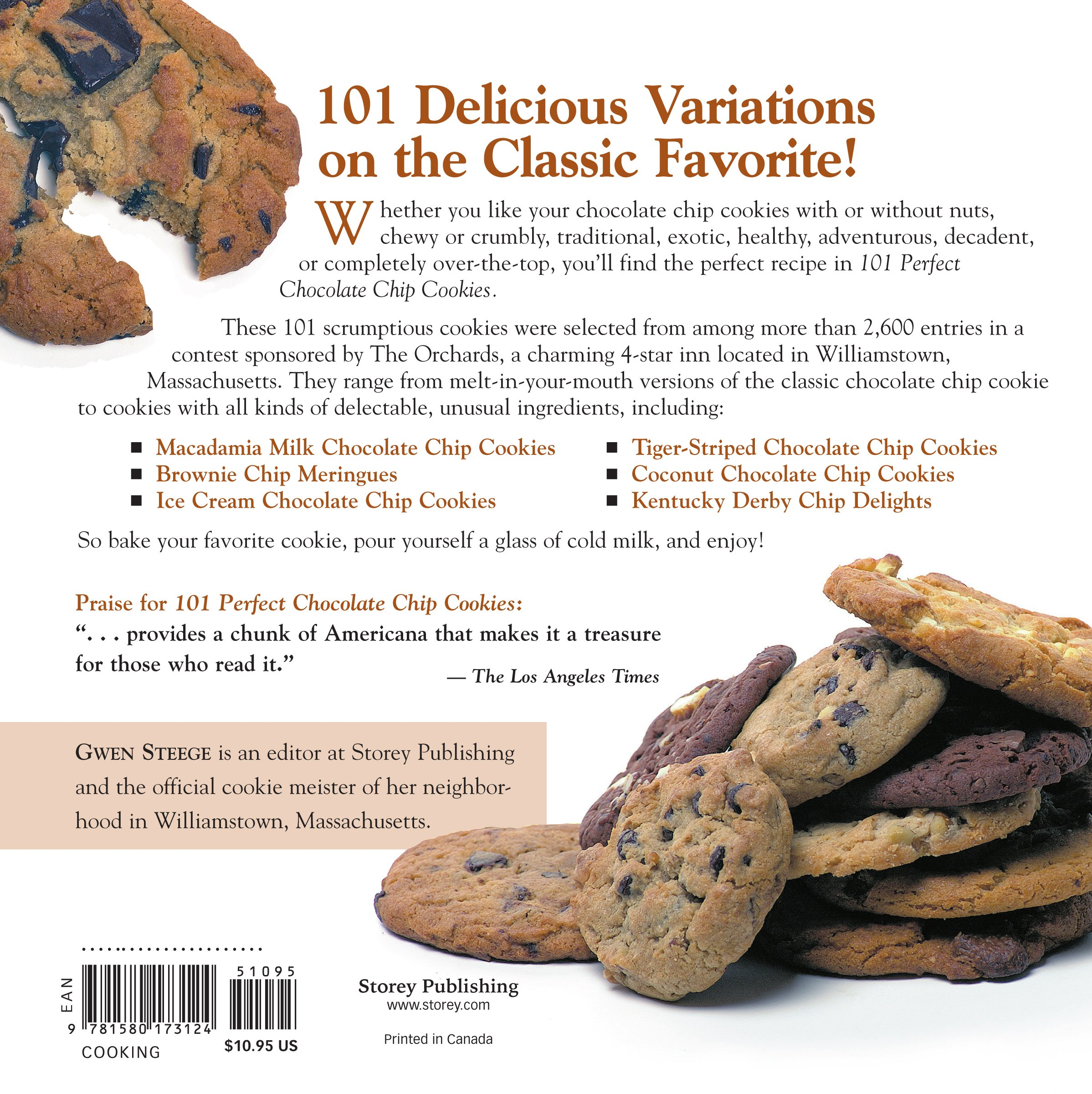 101 Perfect Chocolate Chip Cookies: Gwen W. Steege, Gwen Steege:  0037038173123: Amazon.com: Books