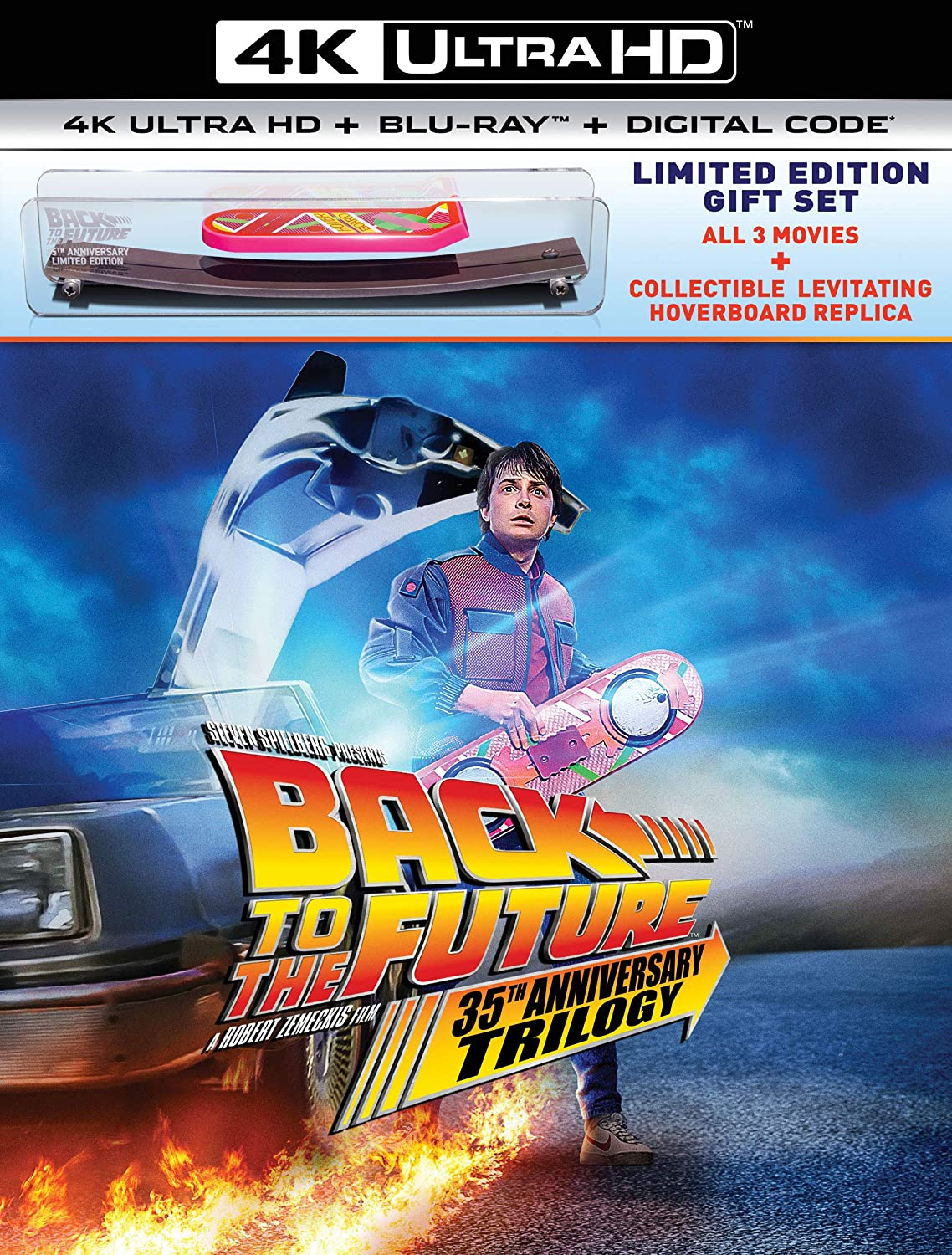 Back To The Future 35th Anniversary Trilogy Giftset 4k Uhd Michael J Fox Christopher Lloyd Lea Thompson Thomas F Wilson Crispin Glover Claudia Wells Casey Siemaszko Billy Zane Mary Steenburgen Elisabeth