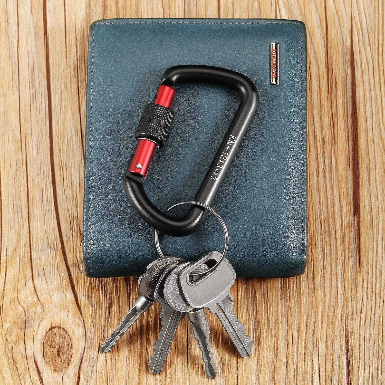 FresKaro 12kn Locking Aluminum Carabiner Clip for Keychain