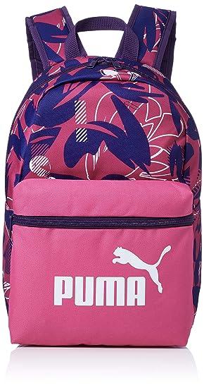0f2688e59f Puma Phase Small Backpack Sac à Dos Mixte Enfant, Fuchsia Purple-AOP, OSFA