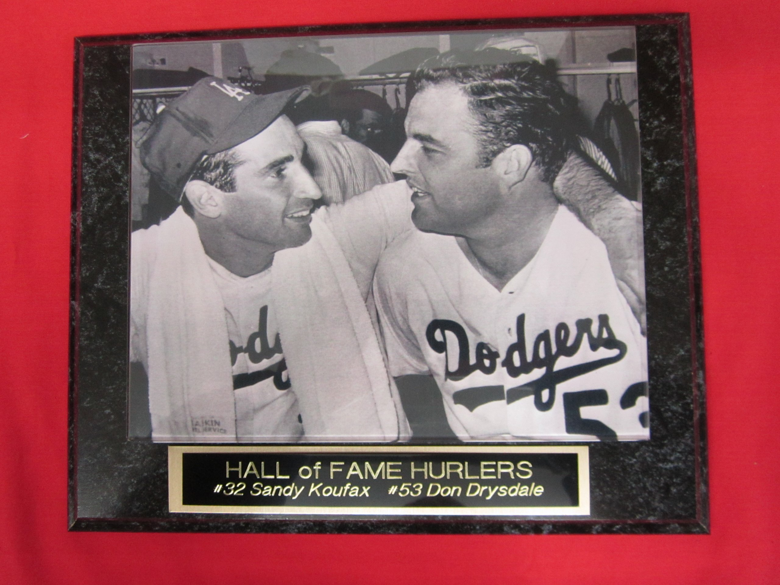 Sandy Koufax Don Drysdale Dodgers Collector Plaque w/8x10 RARE Photo