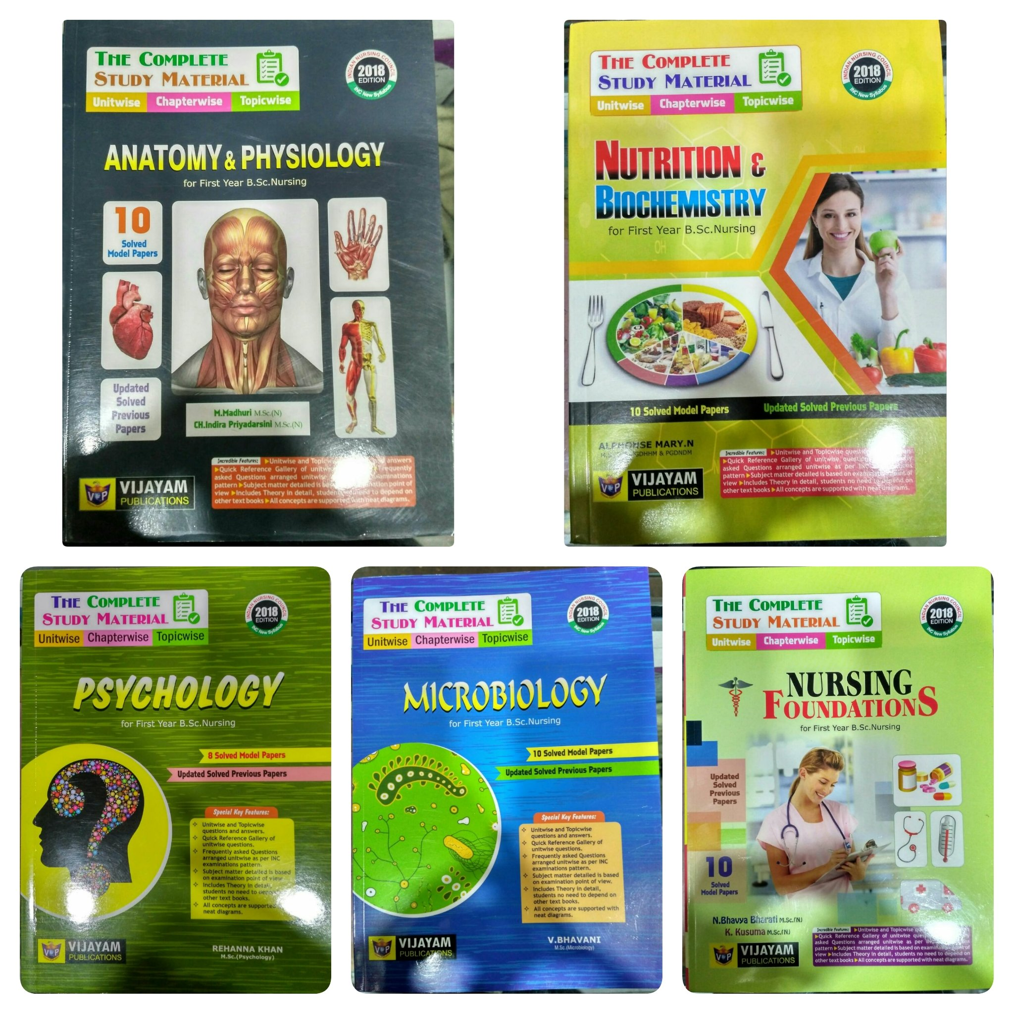 Buy bsc nursing first year study materials pack of 5 books