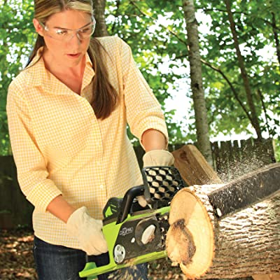 GreenWorks 20312 DigiPro G-MAX 40V Li-Ion 16-Inch Cordless Chainsaw, (1) 4AH Battery and a Charger Inc