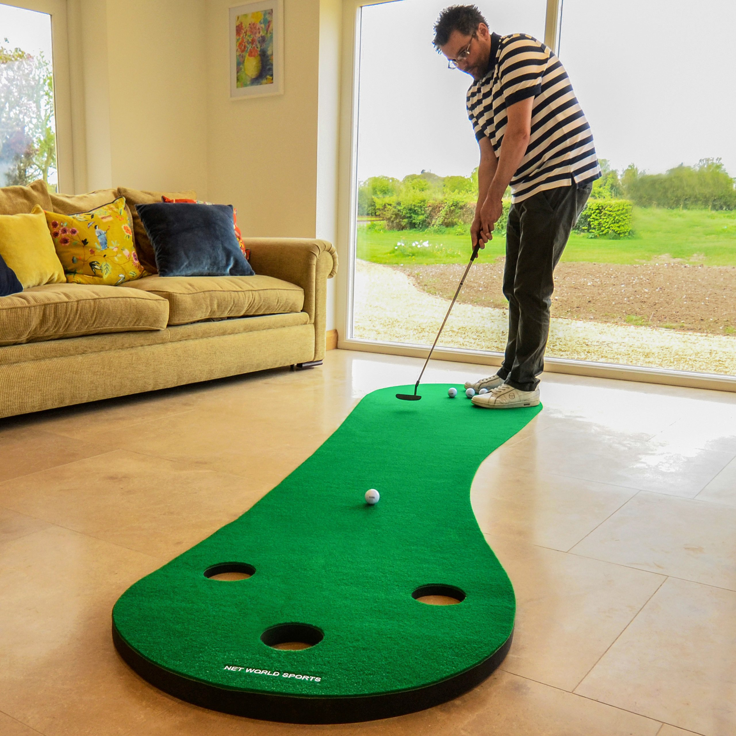 FORB Home Golf Putting Mat 10ft Long - Conquer The Green In Your Own Home! [Net World Sports] by FORB (Image #2)