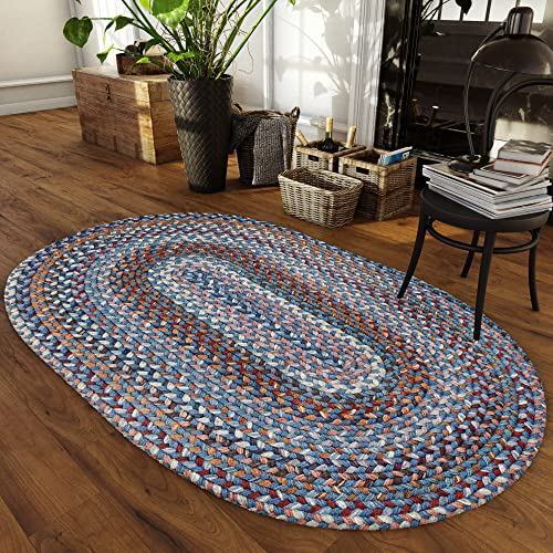 Homespice Rectangular Jute Braided Rugs, 2-Feet 6-Inch by 6-Feet, Mustard Seed