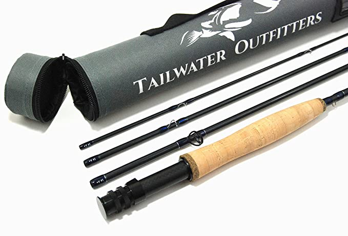 Tailwater Outfitters Toccoa Fly Rod: High Performance 4 Piece, Fast Action IM8 Graphite with Rod Tube