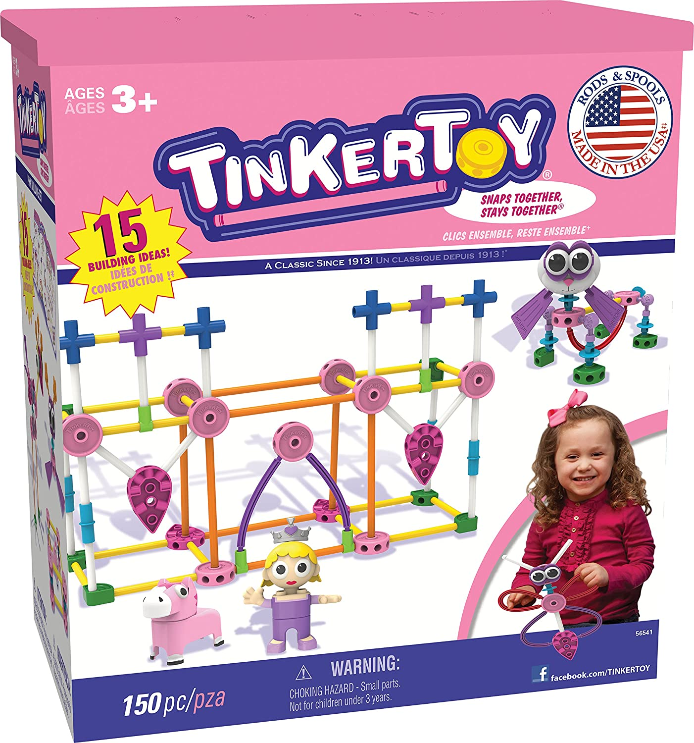 Amazon Tinkertoy Pink Building Set Toys & Games